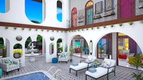 Moroccan Courtyard  - Garden  - by Amyz625