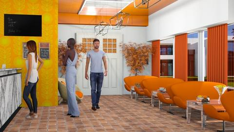 Restaurant orange white - by Nari31