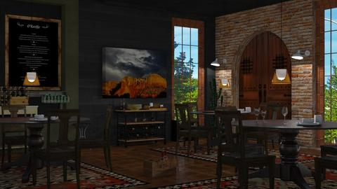 O'Keeffe inspired Restaurant lake George - by Sue Bonstra