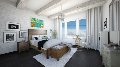 bedroom - Rustic - Bedroom - by karla997