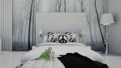Monochrom bed-m. Panorama - Bedroom - by XValidze