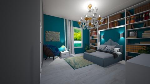 peacock bedroom - Bedroom  - by RhodriSimpson13