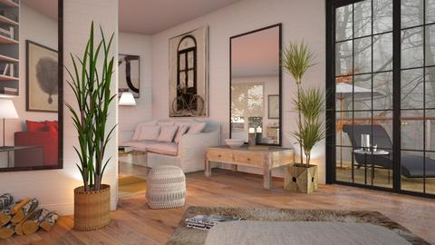 Lshaped on angle - Eclectic - Living room  - by Sally Simpson