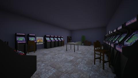 Basement Arcade Painted - Retro - by wbjohns