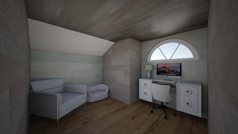 Attic office - Modern - Office  - by FizzyJax