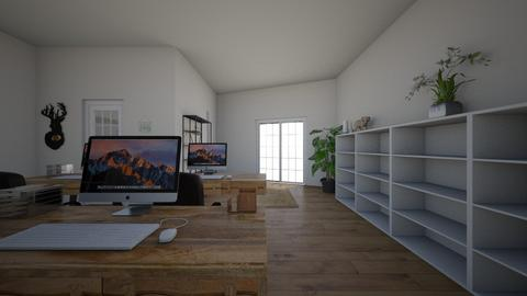 real office  - Modern - Office  - by IremAksoyyy