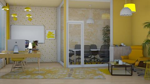 Yellow Office for contest - Minimal - Office  - by Pheebs09