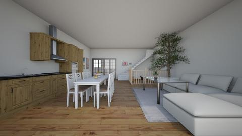 Living Room And Kitchen - Living room - by HannahDesgins