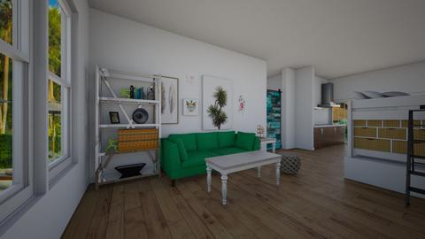 Student Loft - Living room - by KittyPrincess77