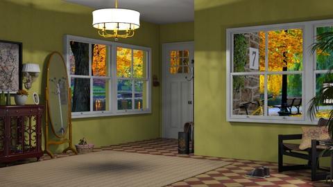 autumn hallway - by nat mi