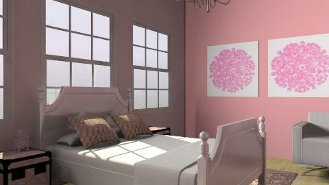Pink bedroom - Classic - Bedroom - by CattyEl