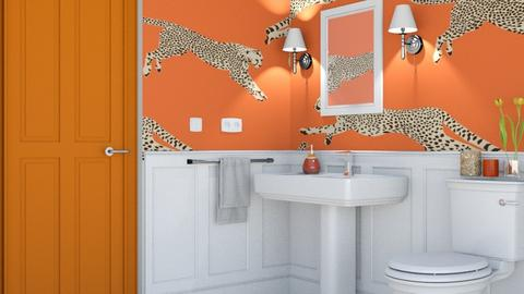 Orange Leopard - Bathroom  - by zozan