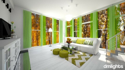 green  - Minimal - Living room  - by DMLights-user-1466046