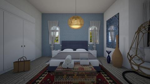 Eclectic_master bedroom - Bedroom  - by lovasemoke