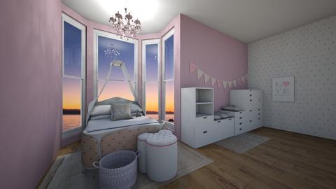 girl princess bedroom - Bedroom  - by eby_bond