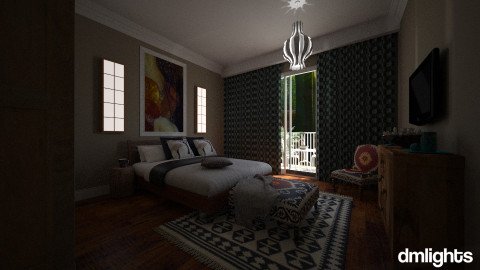 Cozy Bedroom  - Rustic - Bedroom  - by DMLights-user-980441