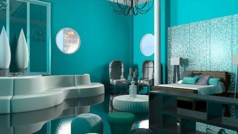 Modern Turquoise - Modern - Bedroom  - by rampage