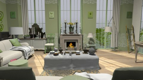 Spring - Vintage - Living room  - by camilla_saurus