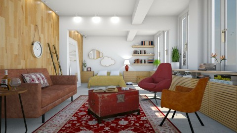 Rue volta - Retro - Living room  - by Liu Kovac