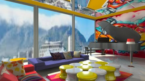 memphis minimalist  - Minimal - Living room  - by Nkanyezi Nhezi Gumede