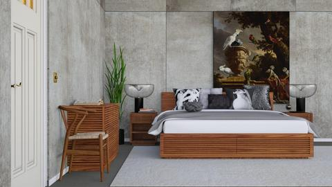 Concrete Bedroom - Rustic - Bedroom  - by HenkRetro1960