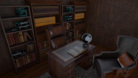 old rustic office - Office  - by flowerpandafox