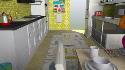 For MzCurlyGurl-view 2 - Eclectic - Kitchen  - by fiddie