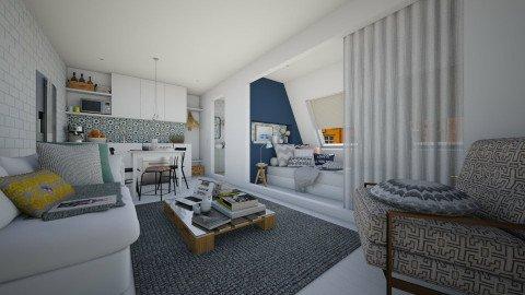 An Attic Apartment - Eclectic - Living room  - by Maria Esteves de Oliveira