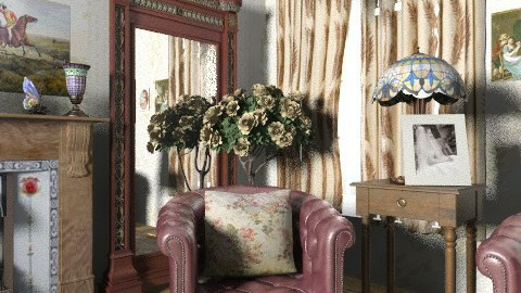 Victorian corner - Rustic - Living room  - by milyca8