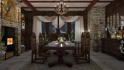 Design 490 Touch of Tudor Dining - Dining room  - by Daisy320