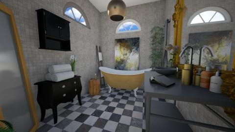 Gold bath - Glamour - Bathroom  - by Liu Kovac