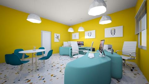 Yellow workplace - Office  - by Daisy Cinnamon