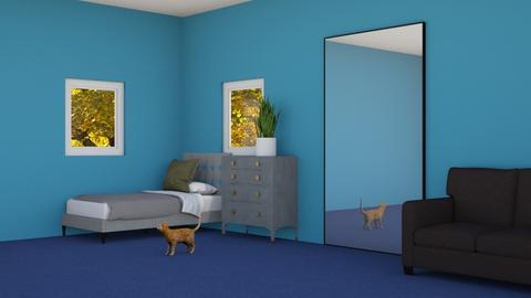 Blue Bedroom - Bedroom  - by rabatat