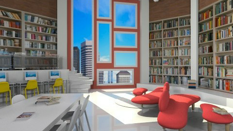 MDRN library - Modern - by Senia N