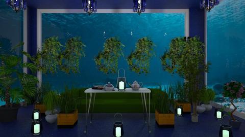 sea under - Living room  - by malithu damsath