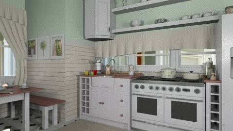 L O V E kitchen  - Country - Kitchen  - by Maria_Julia