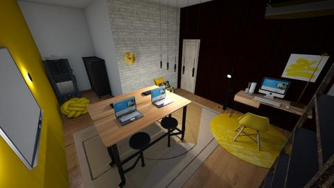 yellow office - Eclectic - Office  - by kate_seabrook