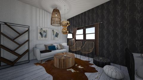 modern farmhouse bedroom - Bedroom - by Zoe Moskowitz
