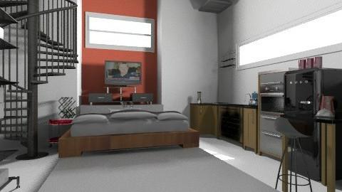 Kitnet - Eclectic - Bedroom  - by Luizabm