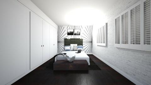Small Bedroom - Rustic - Bedroom  - by ltoan1110