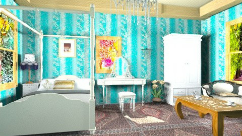 elegant style bedroom - Glamour - Bedroom - by ruaa shan