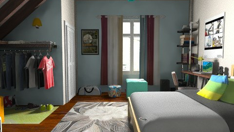 Teen In The Attick Mix up - Modern - Kids room  - by NATooley12