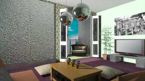 movie room - Modern - Living room - by Piechowiak Monika