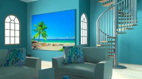Living Bluee - Minimal - Living room  - by tena4444