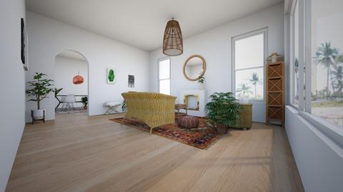 Boho Bamboo  - Minimal - Living room  - by LightLuzLux