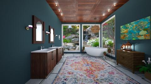 lily pond bathroom - Bathroom  - by courtsmith71772