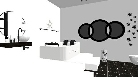 Black n White - Minimal - Bathroom  - by Diana Baki