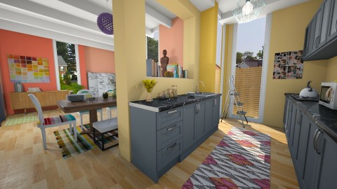 Bright and Colorful - Modern - Kitchen  - by mclaraop