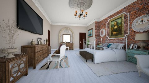 Master Confort - Glamour - Bedroom  - by DeborahArmelin