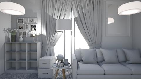 All white - Living room  - by KittyKat28